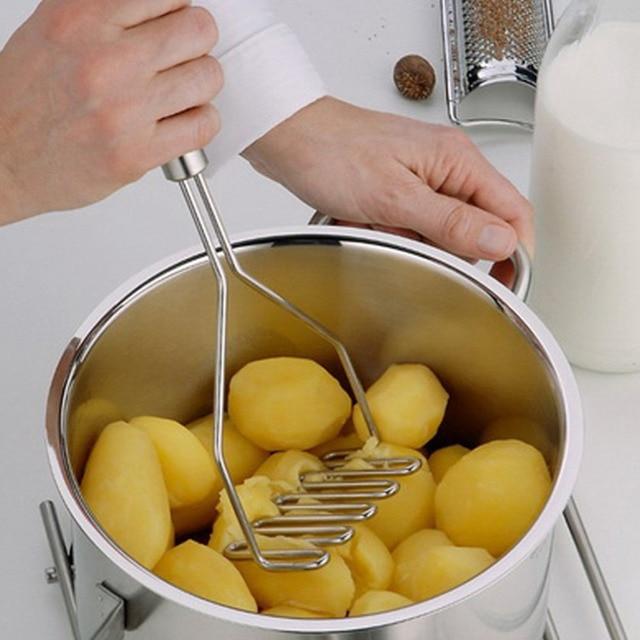 1 pièces acier inoxydable cuisine gadget pomme de terre maher presse outil de cuisson purée de pommes de terre ondulé pression ricer accessoires de cuisine