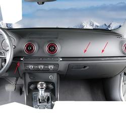 Car Styling Per Audi A3 8 V S3 2014-2017 ABS Centro di Controllo In Fibra di Carbonio Stile Decorazione Adesivi Interni accessori