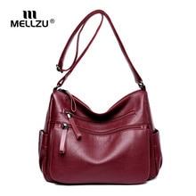 hot deal buy mellzu women leather handbags woman handsbag crossbody bags for women female large handbag totes crossbody bags shoulder bags