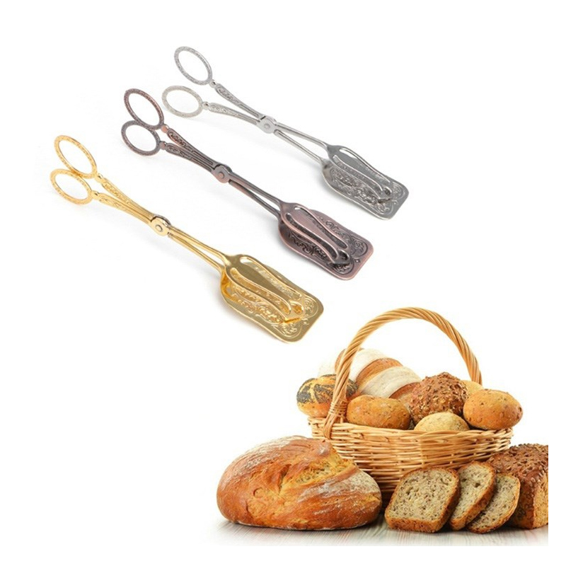 1pcs High Quality New Thick BBQ Tongs Hotel Food Bread Meal Folder Camping Barbecue Food Clip Hot Sale