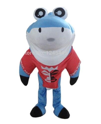 Высокое Качество Милые Акула Маскоты костюм с забавными Средства ухода для век для взрослых бесплатная доставка