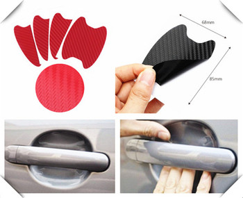 Car shape 3D carbon fiber door handle wrist anti-scratch sticker for Lexus LF-FC LF-C2 GX LF-NX ES350 LFA LF-LC LF-CC image