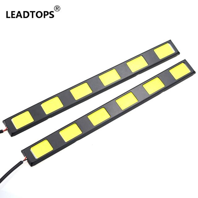 2Pcs 18.2cm High Power 6 COB CAR Daytime Running LED Lights DRL DIY 12V Aluminum LED Waterproof Fog Driving Light BE