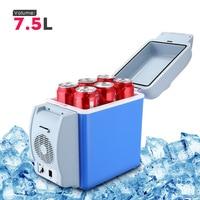 GBT 3008 7 5L Mini Car Refrigerator Multi Function Home Travel Vehicular Fridge Dual Mode Cooler