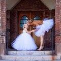 Белый пачка дочь и мать свадьбу день рождения Фотография юбка ткань устанавливает семья соответствующие наряды Европа платье костюм