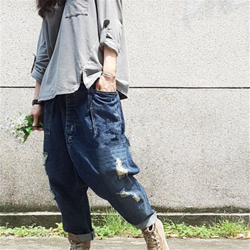 Sizes 6-14 JN-102# Womens Ladies Black /'Revers/' Diamante Harem Denim Jeans