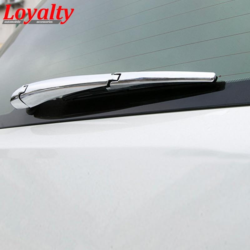 ABS Chrome Rear Rain Wiper Nozzle Cover For Toyota Land Cruiser LC200 2008-2016