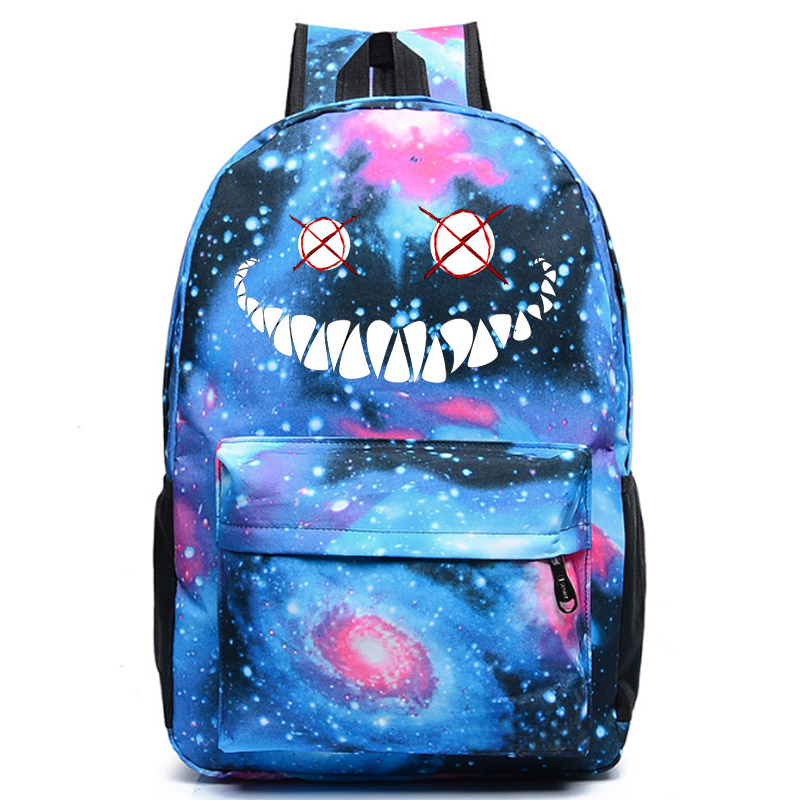 Smiles Fear Breach school bag student school bag Notebook backpack Daily backpack