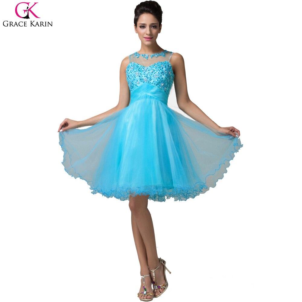 Grace Karin Short Evening Dress Robe De Soiree Courte Tulle ...