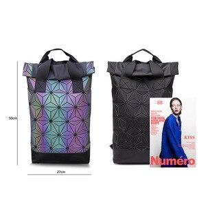 Image 2 - حقائب ظهر جديدة بتصميم هندسي مضيء للرجال والسيدات مناسبة للسفر في المدرسة وتصميم ثلاثي الأبعاد حقيبة ظهر رياضية خارجية