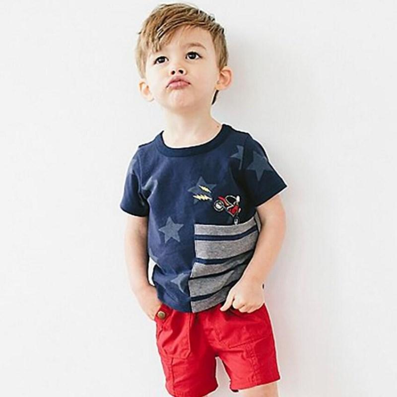 Małe maven dzieci 2018 letnich chłopców ubrania z krótkim - Ubrania dziecięce - Zdjęcie 3