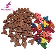 Lucia crafts 12 шт./лот 20 мм Сердце Форма деревянные пуговицы с 2 отверстиями швейные изделия ручной работы Скрапбукинг для одежды аксессуары E0311