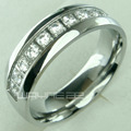 Her's WOMEN'S STAINLESS STEEL WEDDING ENGAGEMENT RING BAND (R178B) SZ 6-9