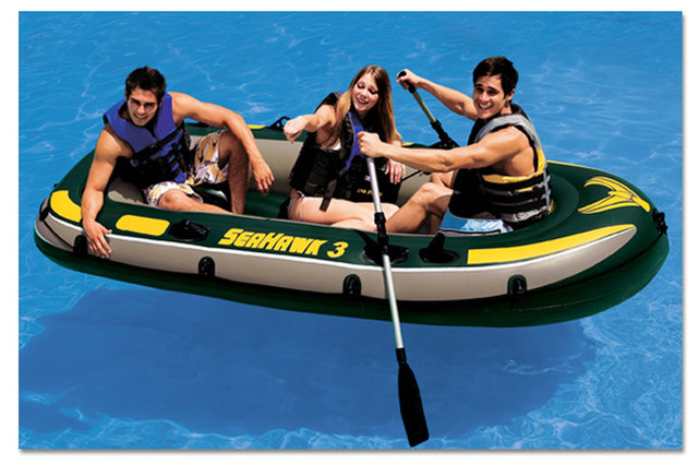 Intex seahawk 3 person fishing boat inflatable kayak for 3 person fishing boat