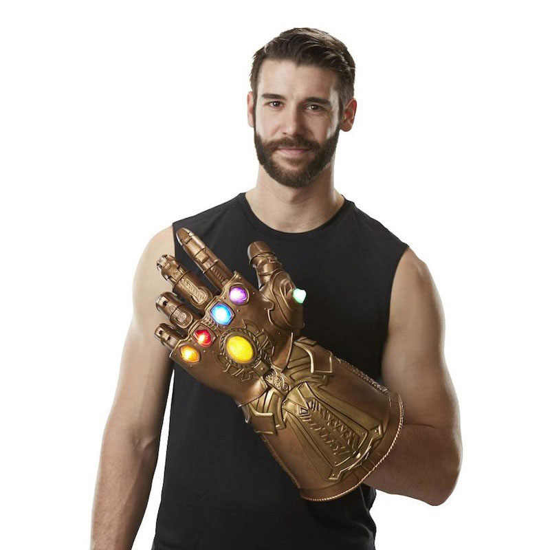 LED Per Bambini di Età Marvel Avengers Endgame Supereroe Thanos Infinity Gauntlet Cosplay Guanti Avengers LED Guanto Snap Guanti Giocattolo