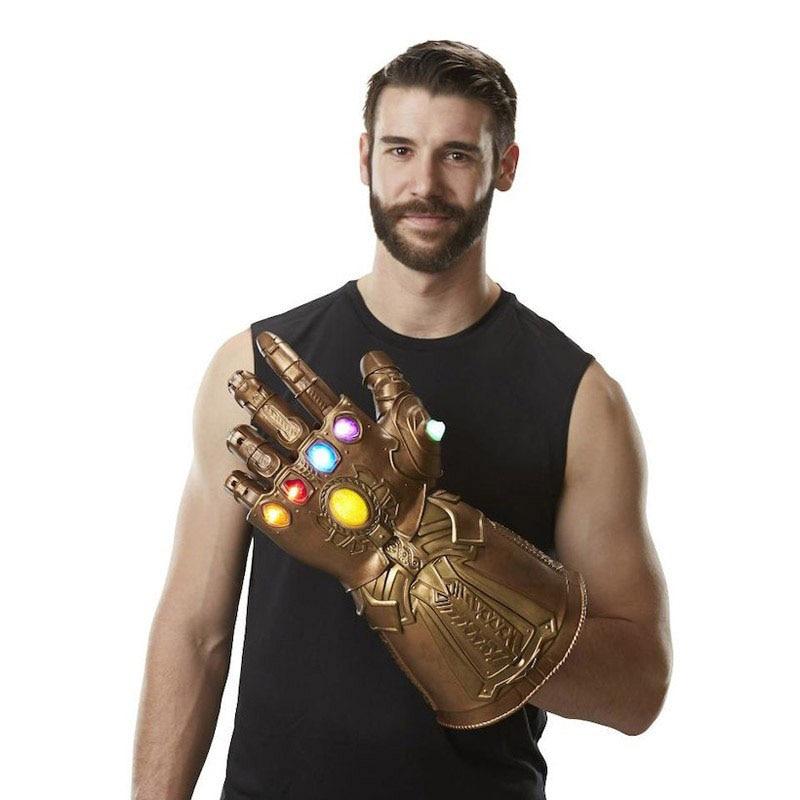 LED enfants adulte Marvel Avengers Endgame super-héros Thanos infini gantelet Cosplay gants Avengers LED gant Snap mitaines jouet
