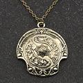 Ожерелье DOTA 2 Immortal Champion Shield, винтажная подвеска DOTA2 Aegis of Champion в стиле ретро, античная бронза, модная подвеска, оптовая продажа