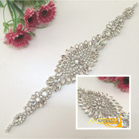 Exquisite Handmade Belt Crystal Rhinestone Wedding Dress Belts Czech Stones Bridal Gown Sash Formal Wedding Dress Belt Crystal