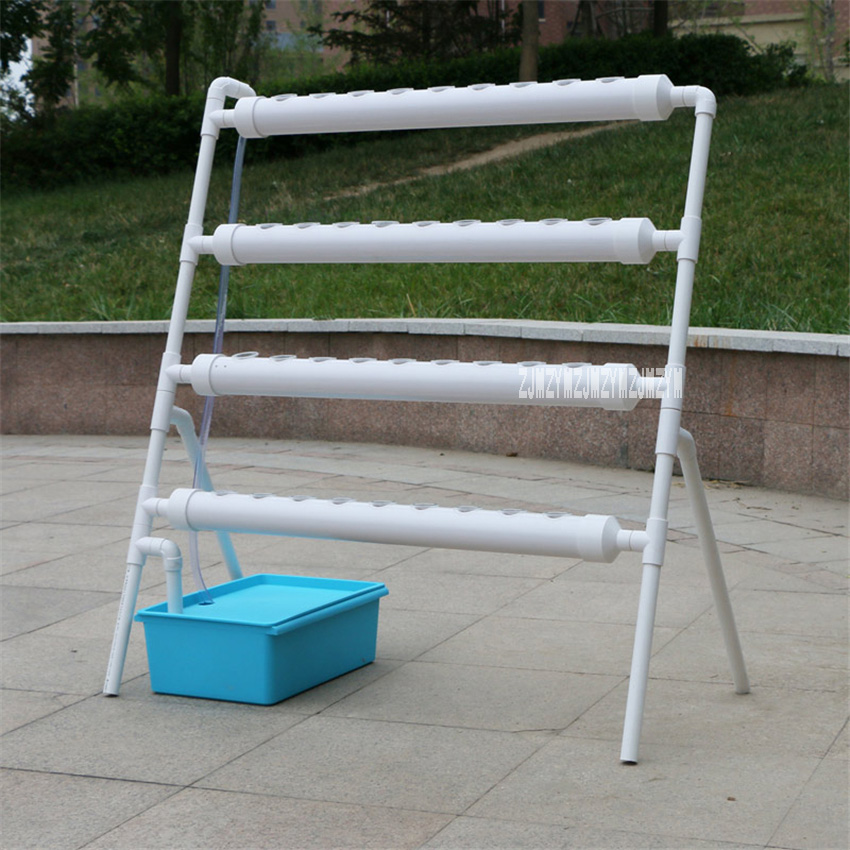 Ladder Soilless Cultivation Pipe Planting Rack Hydroponics System Balcony Planting Machine 36 Holes Pipe Vegetable Planting Rack