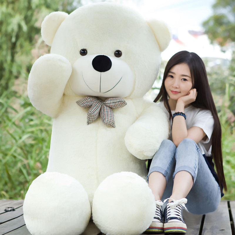 180CM Giant teddy bear huge large big stuffed toys animals plush life size kid children baby dolls lover girl toy Christmas gift 1 piece light brown high quality low price stuffed plush toys large size100cm teddy bear 1m big bear doll lovers birthday gift