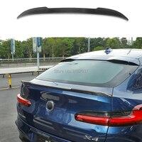 لسيارات BMW X4 G02 25i 30i 2018 + ألياف الكربون الخلفي التمهيد الجناح سبويلر جناح خلفي للسقف الجناح الجذع الشفة واقي أحذية بلاستيك تصفيف السيارة-في جناح خلفي ورفرف من السيارات والدراجات النارية على