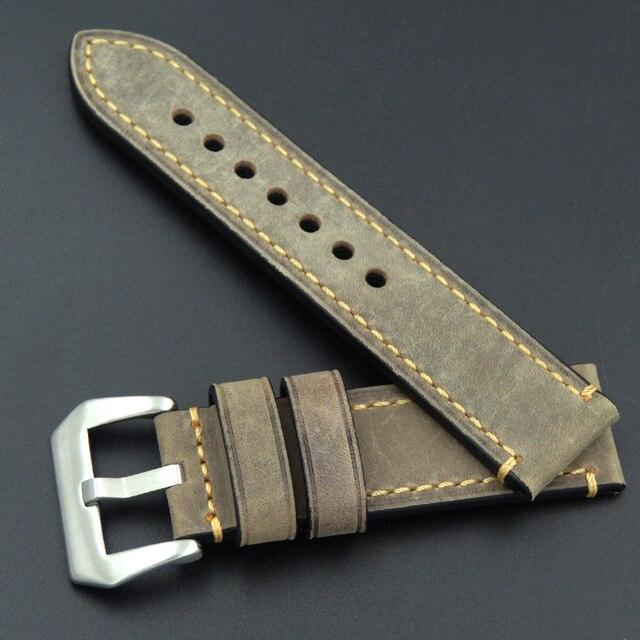 ремешок для часов из телячьей кожи браслет panerai omega seiko фотография