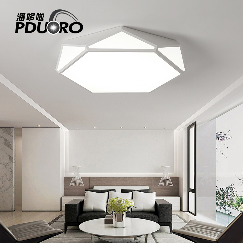 Modern Ceiling Lamp Living Room Light Lighting Fixture Home Bedroom Surface Mount Flush Panel Remote Control LED Ceiling Lights black and white round lamp modern led light remote control dimmer ceiling lighting home fixtures