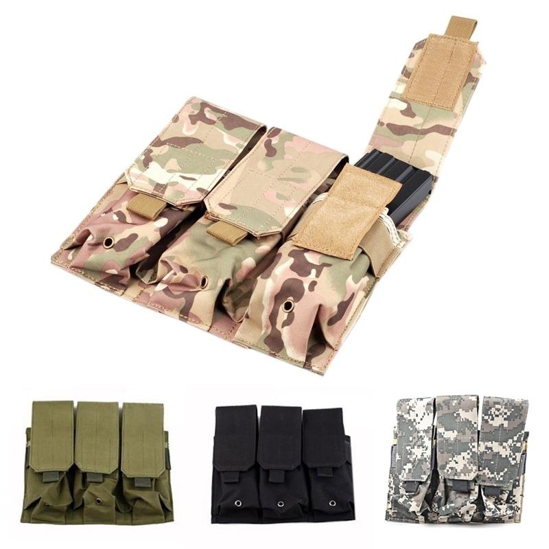Prix pour Tactique Velcro COPAINS MOLLE AR M4 5.56/. 223 Triple Magazine Pouch Mag Titulaire Sacs Velcro Mag Pouch