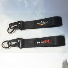 Brand New JDM Style Smooth Surface Car MUGEN TYPE R Key Ring Chain Car Interior Embroidery Sewing Keychain Lanyard For Honda(China)