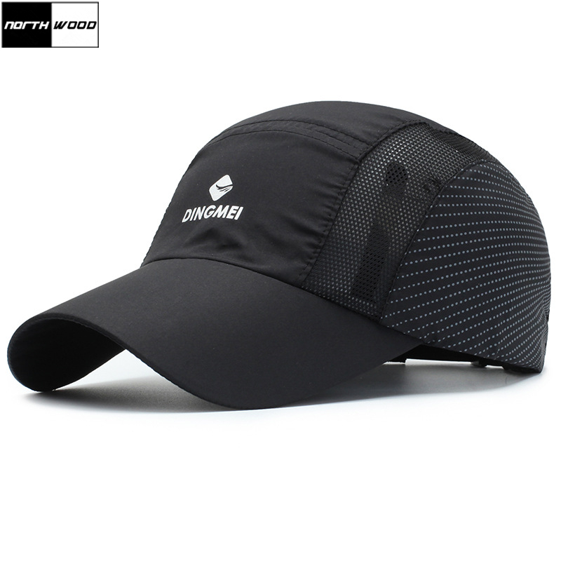 [NORTHWOOD] 2019 New Waterproof Mesh   Baseball     Cap   Men Women Summer   Cap   Breathable Hip Hop Snapback Hat Quick Drying Casquette