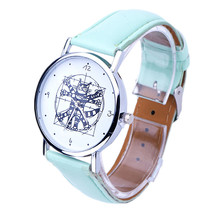 2016 Hot Sale Wholesale Women Leather Analog Quartz Wrist Watch New Fashion Women Dress Wristwatch Free Shipping Ladies Gift