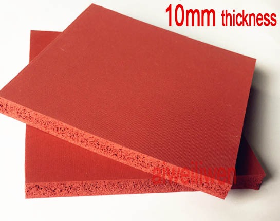 10mm thickness, 50cm length, 50cm width Silicone foam board,sponge sheet ,embossing machine plate,flame retardant rubber sheet
