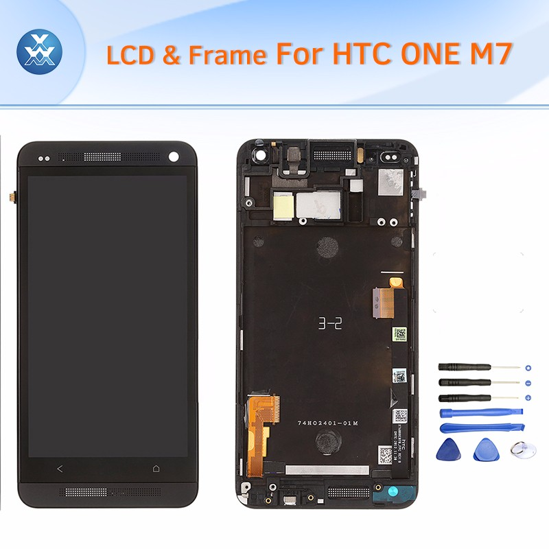HTC One M7 LCD & Digitizer Assembly with Frame - Black