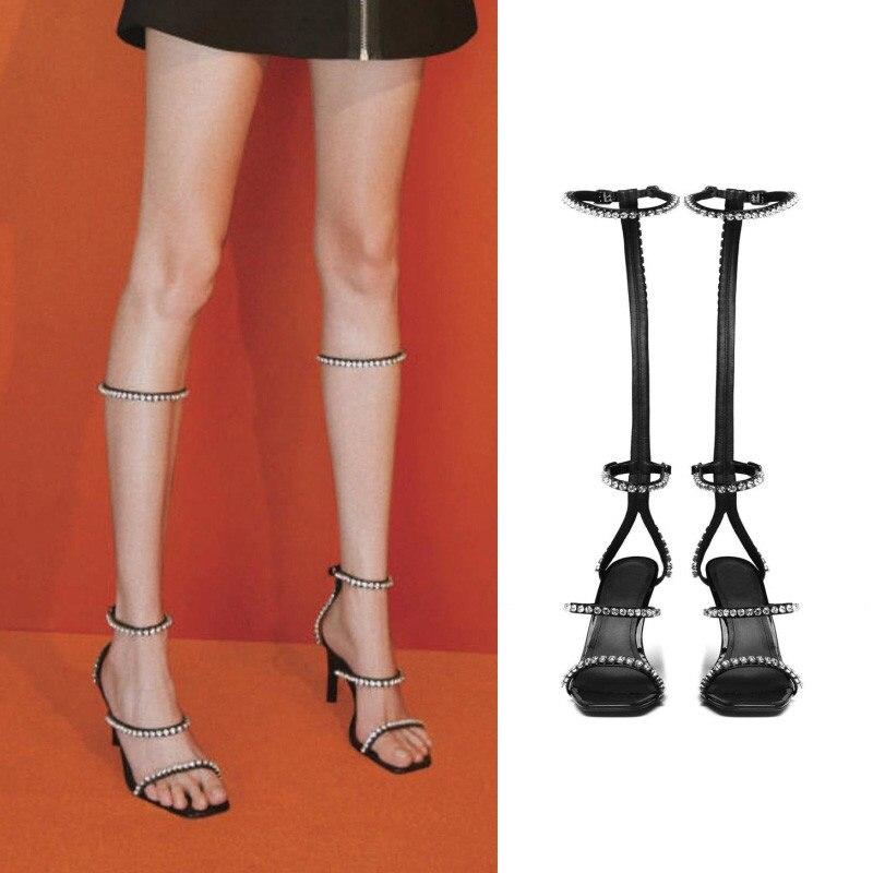 New womens shoes summer fashion 2019 gladiator sandals women scarpe donna estive high heel sandals