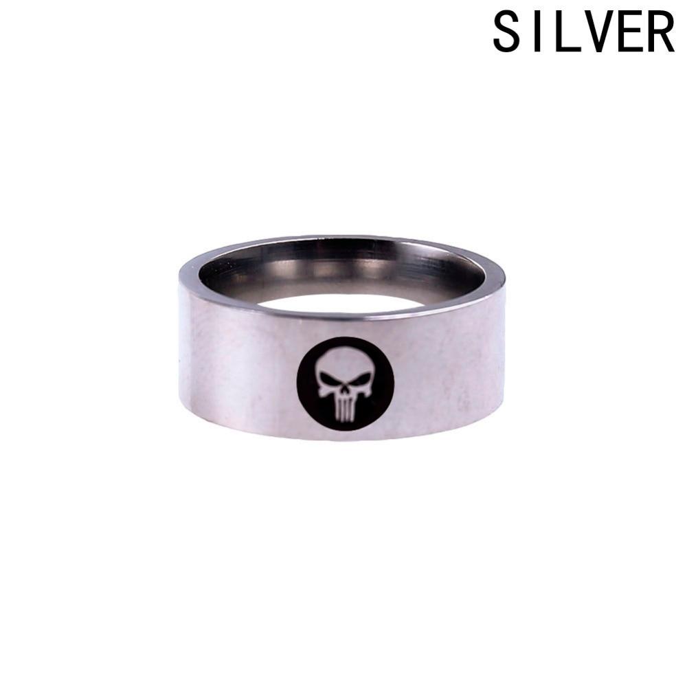 Marvel Super Skull Punisher Ring Stainless Steel Ring For Men And Women Rings
