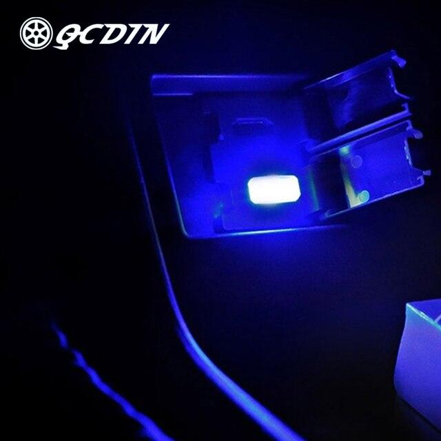 Qcdin 1pc usb led mini carro sem fio iluminação interior atmosfera lâmpada decorativa para o carro conduziu a iluminação interior luz interior