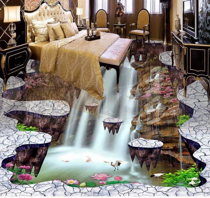 3d flooring custom wallpaper 3d floor murals Waterfalls 3d photo wallpaper room mural 3d floor wallpaper living room 3d floor murals custom wallpaper 3d floor photo mural wallpaper flower european marble pattern vinyl flooring living room