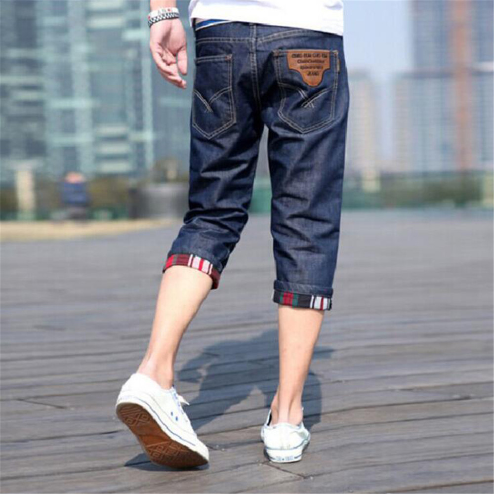blue   jeans   men 2019 Leisure time printing lightning Little feet Big code Pants men   jeans   hombre   jean   homme clothes streetwear