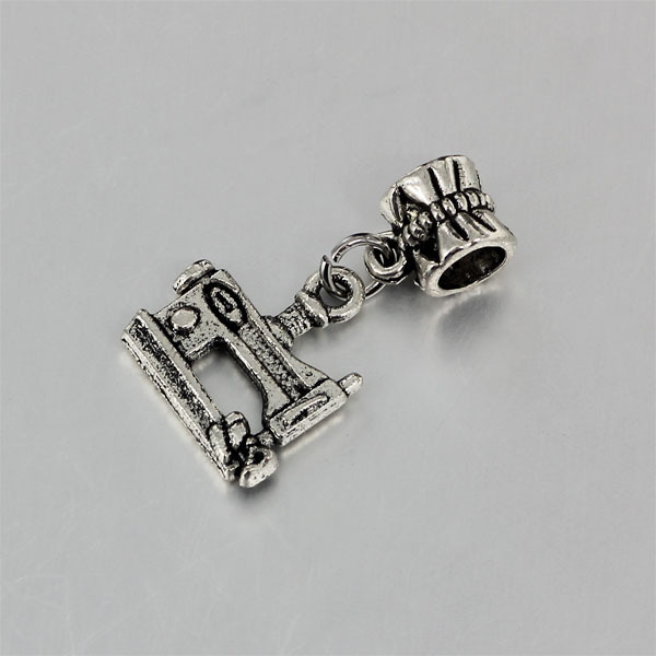 Free Shipping Silver Color Sewing Machine Charms Fits European Impressive Pandora Sewing Machine Charm