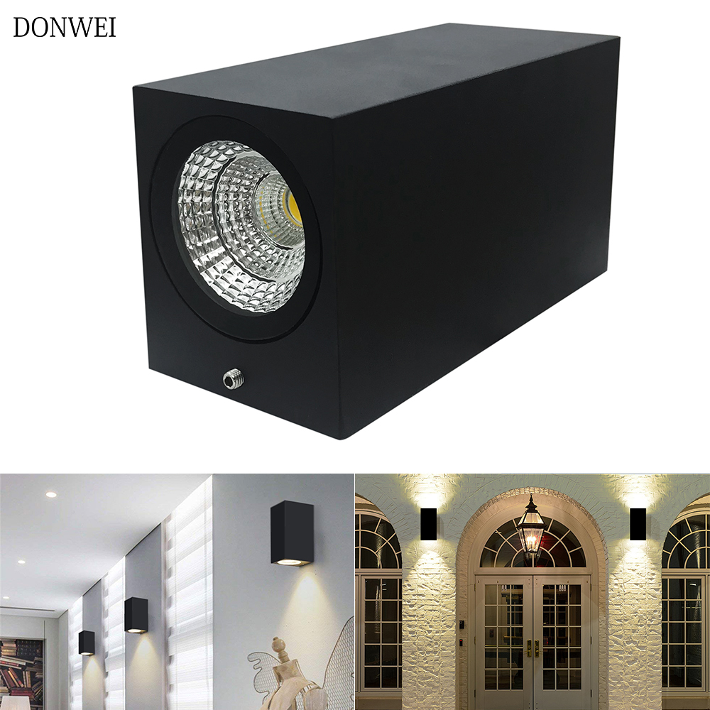 Lighting Basement Washroom Stairs: Square Led Wall Lamp 6W Wall Sconces Indoor Stair Light