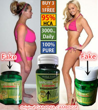 Pure Garcinia Cambogia Extract 95% HCA for weight loss diet supplements caps