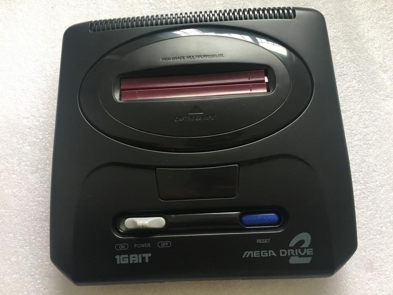 Console de jeu vidéo 16 bits SEGA Genesis MD 2 pour cartouche de jeu SEGA originale avec jeux classiques 196 en 1 (économie de batterie possible)-in Consoles de Jeux vidéo from Electronique    1
