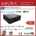 Onvif 15-vários idiomas de entrada de áudio gravador de vídeo em Rede 8ch mini NVR para a câmera ip frete grátis
