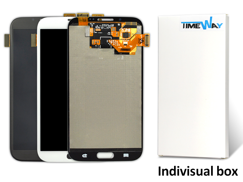ФОТО DHL 10pcs 1000% original Grey and  White for samsung  note 2 n7100 lcd with digitizer Assembly Free shipping !!!