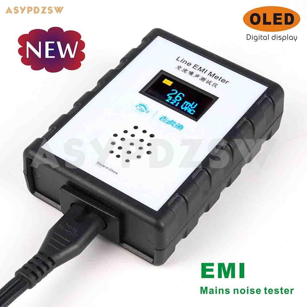 OLED Mains noise measuring instrument EMI Broadband AC Power ripple analyzer With EU UK conversion plug