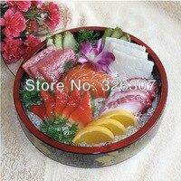 Небольшой глубокое блюдо японской кухни модель еда плесень настроить сашими блюда моделирование модели Формы Поддельные пример блюд Япони