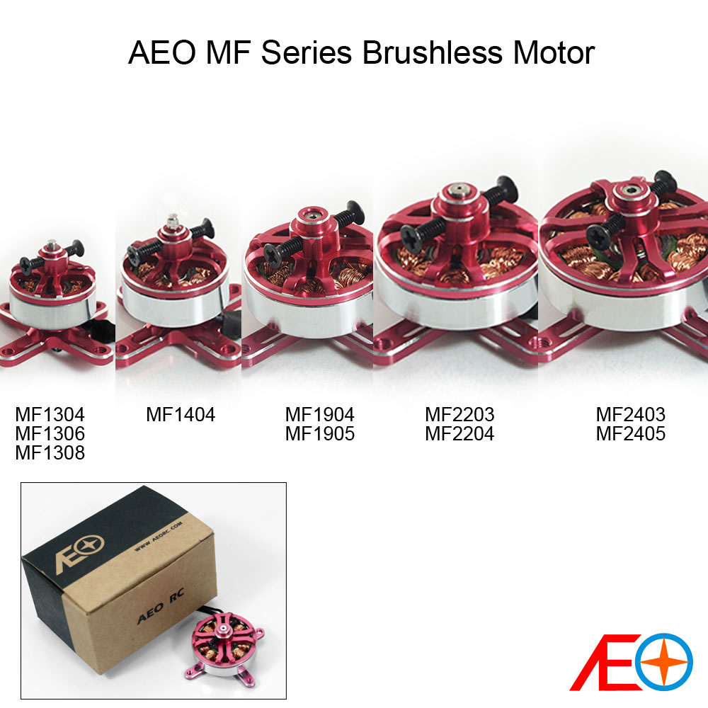 AEORC Red Multi Metal Motors For 3D Airplanes,multi-rotors 1304/1306/1308/1404/1904/1905/2203/2204/2403/2405