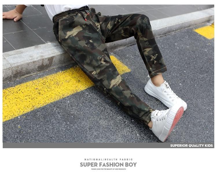 HTB162nSa.zrK1RjSspmq6AOdFXaC - Children Jeans Pants 2019 Spring Autumn Korean Version Kids Casual Camouflage Trousers For Boys 4 6 8 10 12 Years Pants DWQ025