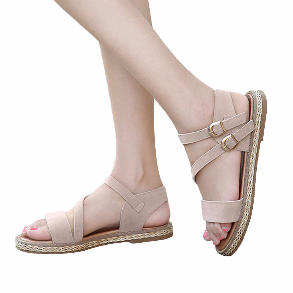 CHAMSGEND ladies new casual shoes sandals slippers thick with wedges slippers fashion comfortable outdoor sandals