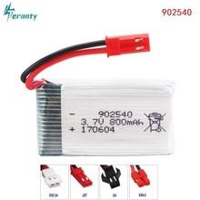 2pcs For X400/X500/X300C/X800/1315/HJ818/HJ819 3.7V 800mAh 25c Lipo Battery 902540 RC Quadcopter Drone Spare Part 3.7 v battery